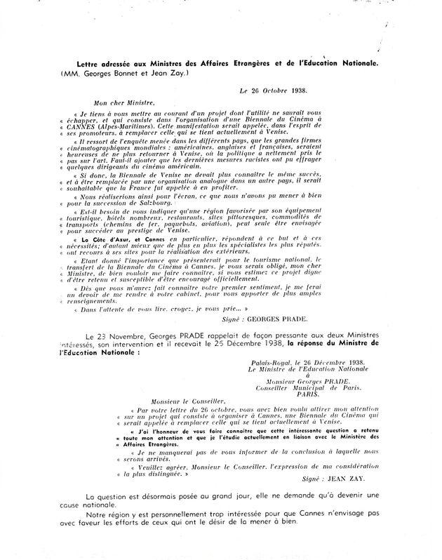 Correspondencia de Georges Prade
