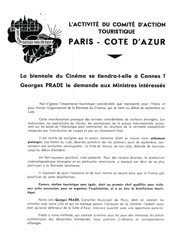 Correspondance de Georges Prade