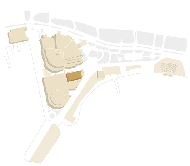 Map of the Palais - Soixantième Theatre