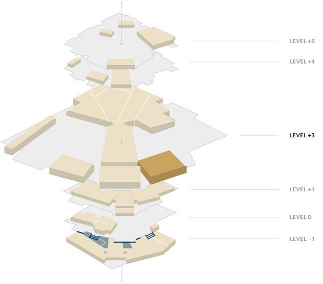 Plano del Palais - Sala Bazin