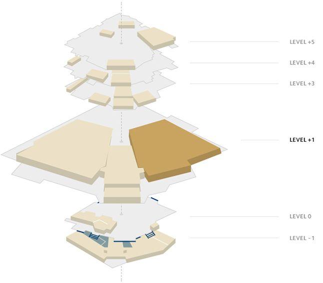 Plano del Palais - Sala Debussy