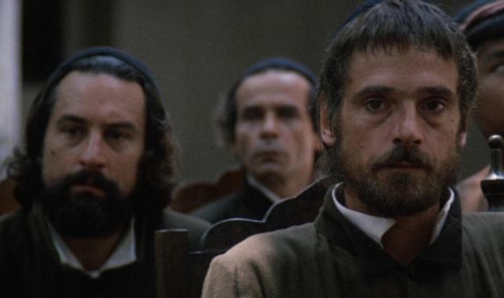 Robert De Niro and Jeremy Irons in The Mission by Roland Joffé
