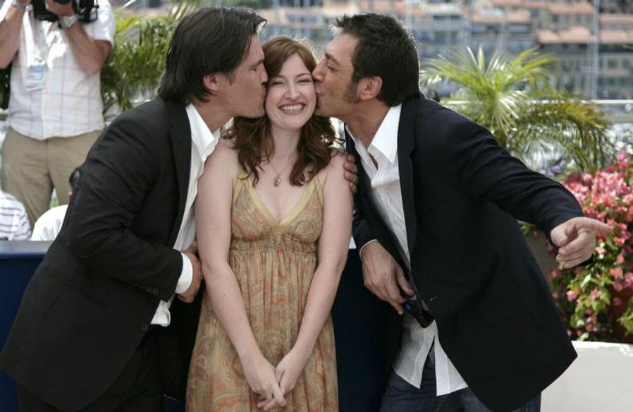 Josh Brolin, Kelly MacDonald, Javier Bardem - Photocall No Country for Old Men d'Ethan et Joel Coen