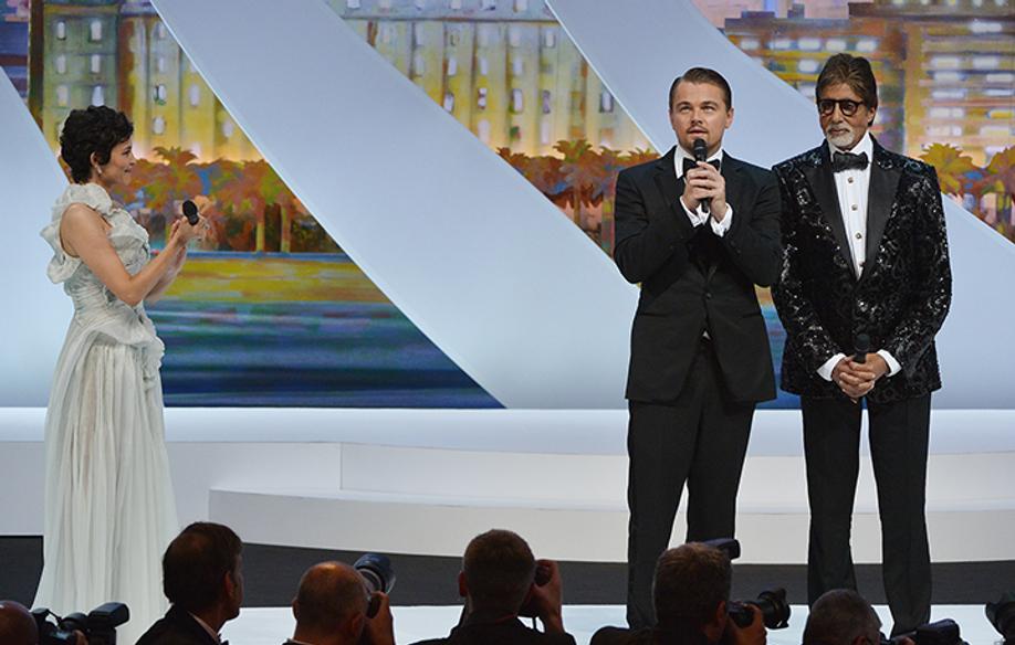 Leonardo DiCaprio and Amitabh Bachchan © AFP