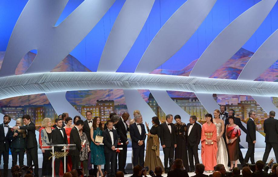 Les lauréats © AFP