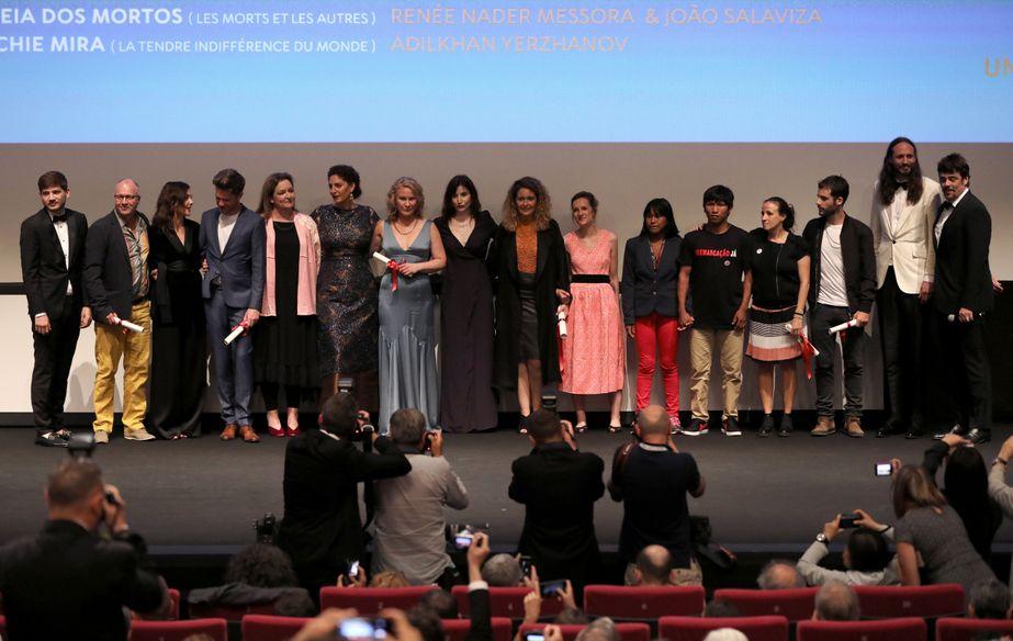 Benicio del Toro et les lauréats Un Certain Regard 2018