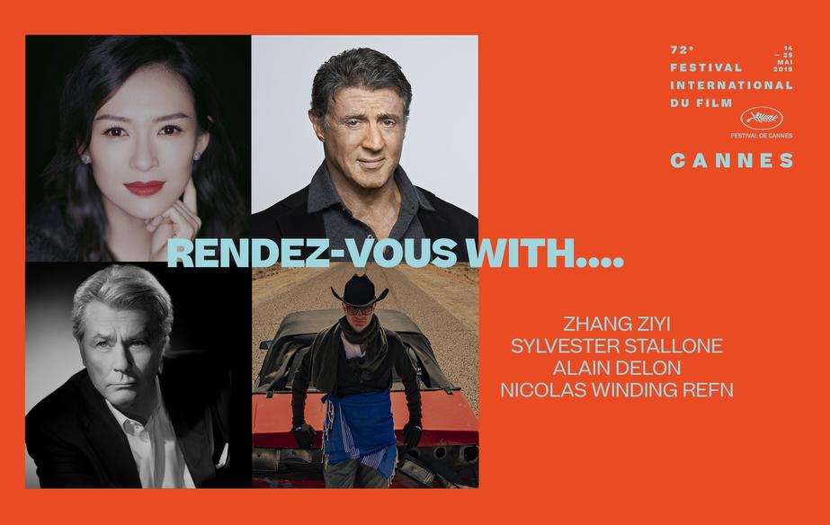 Zhang Ziyi、Sylvester Stallone、 Alain Delon和Nicolas Winding Refn见面会
