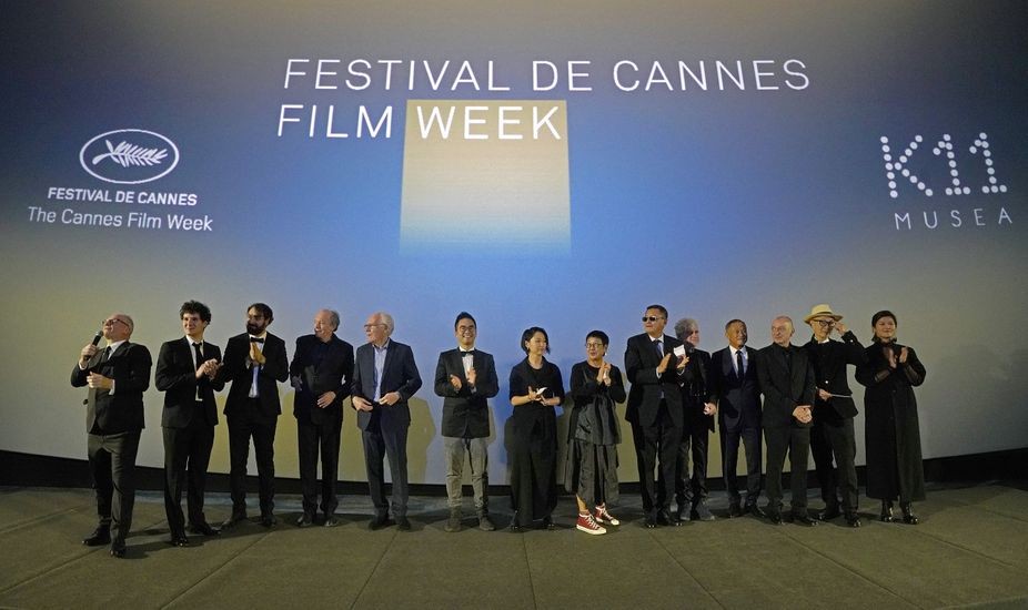 Thierry Frémaux, Adrian Cheng and Cannes Family declare the first Festival de Cannes Film Week in Hong Kong open.