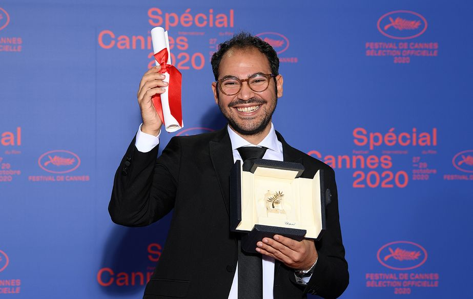 Sameh Alaa, winner of the 2020 short film Palme d'or