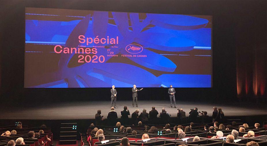 """Thierry Frémaux, Pierre Lescure et David Lisnard déclarent ouverte l'édition """"Spécial Cannes 2020"""""""