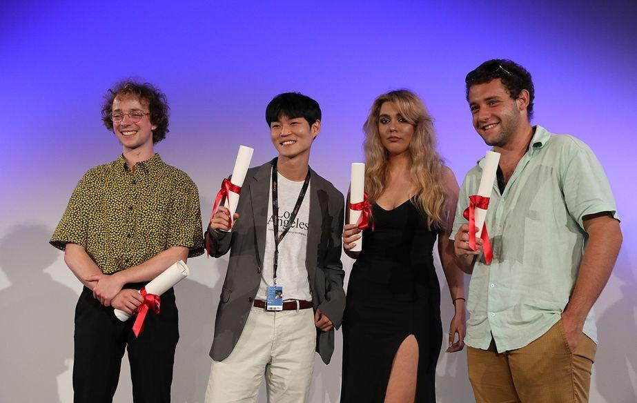 Théo Degen, Yoon Daewoen, Carina-Gabriela Dașoveanu et Rodrigo Ribeyro - Remise des prix de la Cinéfondation 2021