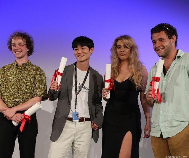 Théo Degen, Yoon Daewoen, Carina-Gabriela Dasoveanu et Rodrigo Ribeyro - Remise des prix de la Cinéfondation 2021